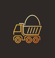 truck with sand modern colorful linear icon vector image