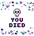 you died pixel glitch vector image vector image