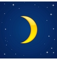 cartoon glossy moon vector image