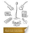 rock music instruments vector image