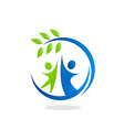 nature ecology people friendly logo vector image