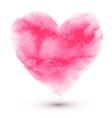 Hand made watercolor pink heart vector image