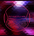 purple futuristic template vector image