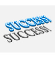 3d success text design vector image vector image