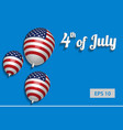 4 july banner vector image vector image