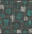 abstract seamless pattern with capital letters and vector image