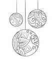 adult coloring bookpage a christmas decoration vector image vector image