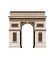 Arc de Triomphe - triumphal arc in Paris France 2 vector image