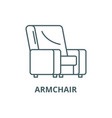 armchair line icon armchair outline sign vector image
