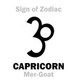 astrology sign of zodiac capricornus the vector image vector image