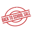 Back To School Sale rubber stamp vector image vector image