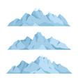 big mountain set vector image vector image