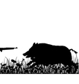Boar hunting vector image vector image