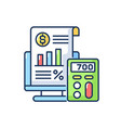 bookkeeping and audit rgb color icon