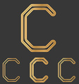 Bronze line c logo design set vector image vector image