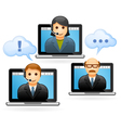 Business people conference call - video conference vector image vector image
