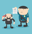 businessman trouble with taxes vector image vector image