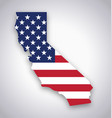 california map with usa flag vector image