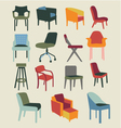 chair set of chairs interior furniture vector image vector image