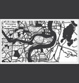 chongqing china city map in black and white color vector image vector image