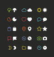 Color web interface icons clip-art vector image vector image