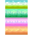 Colorful seamless landscapes set vector image vector image