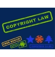 Copyright Law Rubber Stamp vector image vector image