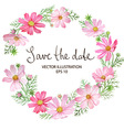 Cosmos Flowers Wreath vector image