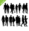 Couples silhouettes vector image