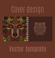 cover design for print with bear vector image