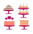 Cream birthday cake vector image vector image