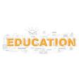 design concept word education website banner vector image vector image
