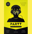 electro music party poster template dance vector image vector image