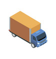 freight truck isometric 3d element vector image vector image