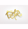 golden metallic shiny typography happy easter 3d vector image vector image