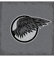 grunge vintage sport label with wings vector image vector image