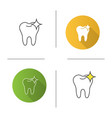 healthy shining tooth icon vector image