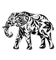 High quality indian elephant drawn with ornament vector image