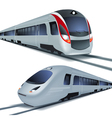 High speed trains isolatetd on white background vector image vector image