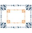 image a decorative ornamental frame vector image vector image