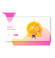 initial public offering landing page template vector image