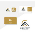 letter ac home logo design and business card
