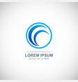 loop round business company logo vector image vector image