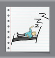 man dreams on the pillow vector image