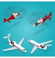 passenger airplane private jet vector image vector image