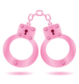 pink handcuffs vector image