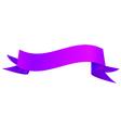Realistic shiny indigo ribbon isolated on white vector image vector image