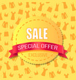 sale special offer exclusive advirtising banner vector image
