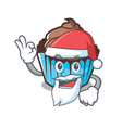 santa chocolate cupcake mascot cartoon vector image