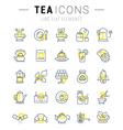 Set Flat Line Icons Tea vector image vector image